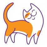 katten en kerstversiering